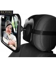 Зеркало на подголовник для наблюдения за ребенком в автомобиле прямоугольное - Royal Accessories