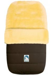 Зимний Меховой Конверт из овчины Heitmann Felle Lambskin Cosy Toes коричневый 968MO
