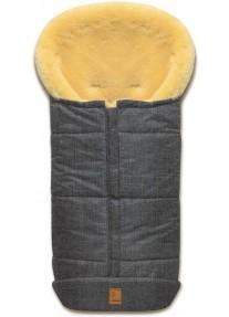 Зимний Конверт из овчины Heitmann Felle Premium Grey-Melange (Серый Меланж) 975GM