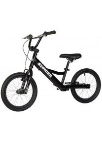 Беговел Strider 16 Sport Black (Страйдер 16 спорт чёрный) велобалансир бегунок от 6 лет