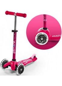 Самокат Micro Mini Deluxe Pink Розовый LED (MMD075)