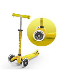 Самокат Micro Mini Deluxe Yellow Желтый LED (MMD053)
