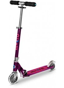 Самокат Micro Scooter Sprite Purple Stripe LED (Sa0219) Сиреневые Полоски