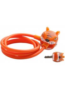 Замок Orange Tiger 2017 by Crazy Safety (оранжевый тигр) на самокат - велосипед