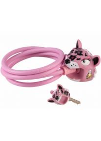 Замок Pink Leopard by Crazy Safety (розовый леопард) на самокат - велосипед