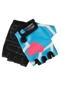"""Перчатки детские защитные (без пальцев) - Crazy Safety - Blue Giraffe (синий жираф) - """"S"""" - 7см"""