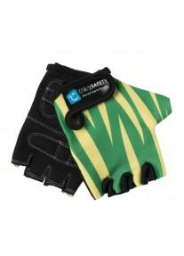 """Перчатки детские защитные (без пальцев) - Crazy Safety - Green Tiger (зелёный тигр) - """"S"""" - 7см"""
