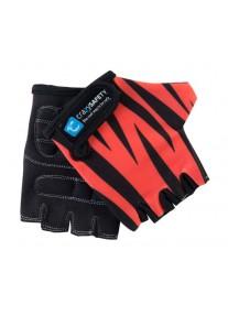 """Перчатки детские защитные (без пальцев) - Crazy Safety - Orange Tiger (оранжевый тигр) - """"S"""" - 7см"""