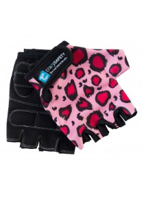 """Перчатки детские защитные (без пальцев) - Crazy Safety - Pink Leopard (розовый леопард) - """"S"""" - 7см"""
