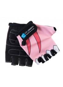 """Перчатки детские защитные (без пальцев) - Crazy Safety - Pink Shark (розовая акула) - """"S"""" - 7см"""