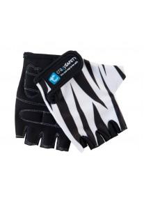 """Перчатки детские защитные (без пальцев) - Crazy Safety - White Tiger (белый тигр) - """"S"""" - 7см"""