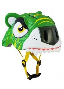 Шлем Green Tiger by Crazy Safety 2017 (зелёный тигр) детский для мальчика новая коллекция