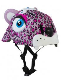 Шлем защитный Pink Leopard by Crazy Safety New (розовый леопард) детский для девочки