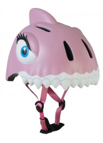 Шлем защитный Pink Shark by Crazy Safety New (розовая акула) детский для девочки новая коллекция