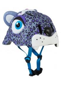 Шлем защитный Purple Leopard by Crazy Safety New (сиреневый леопард) детский для девочки