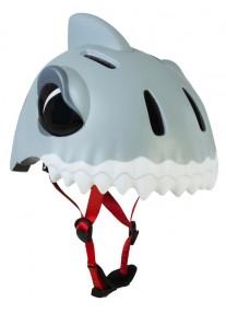 Шлем защитный White Shark by Crazy Safety (белая акула) детский для мальчика