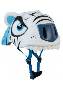 Шлем защитный White Tiger  by Crazy Safety New (белый тигр) детский для мальчика
