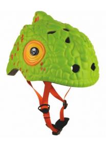 Шлем Green Cameleon by Crazy Safety 2018 (зеленый хамелеон) детский