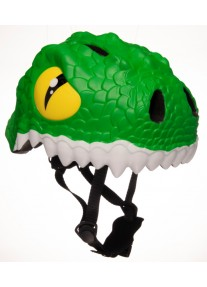 Шлем Green Crocodile by Crazy Safety 2020 (зеленый крокодил) детский