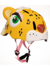 Шлем Yellow Leopard by Crazy Safety 2020 (желтый леопард) детский