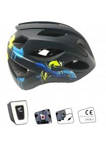 Шлем Crazy Safety Cool Arrow M (чёрный/синий)