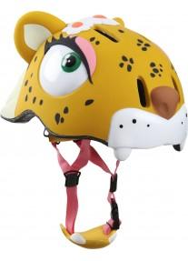 Шлем защитный Leopard by Crazy Safety (леопард) детский для девочки