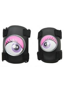 Комплект защиты 2 в 1 розовая (S) Crazy Safety защита локтей и колен