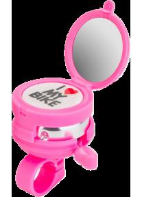 Звонок на самокат - велосипед Зеркало розовый