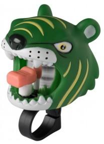 Звонок Green Tiger by Crazy Safety (зеленый тигр) на самокат - велосипед