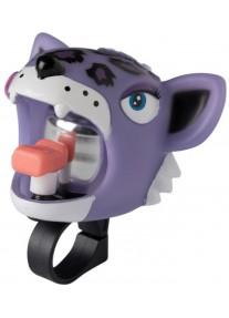 Звонок Purple Leopard by Crazy Safety (сиреневый леопард) на самокат - велосипед