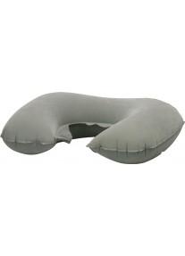 Подушка - подголовник надувная для путешествий (универсальная серая)