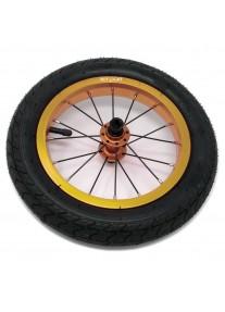 """Колеса 2 штуки для Беговела Cruzee-Strider 12"""" (воздушные)  JETCAT Wheels Pro V1 Золотые"""