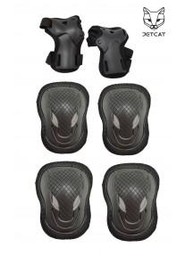 Комплект защиты 6 предмета  3 в 1 Jet-Cat Sport (Черная) защита локтей и колен