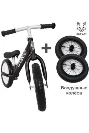 Купить Cruzee UltraLite Balance Bike (Black) + Air Wheels JETCAT