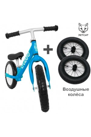 Купить Cruzee UltraLite Balance Bike (Blue) + Air Wheels JETCAT
