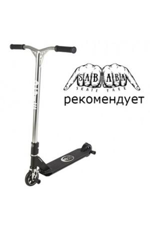 Самокат Micro Freestyle Scooter MX Crossneck Black (SA0109) сверхпрочный для трюков чёрный