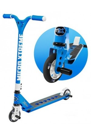 Самокат Micro Freestyle Scooter MX Trixx Ocean Blue (SA0184) стальной для трюков