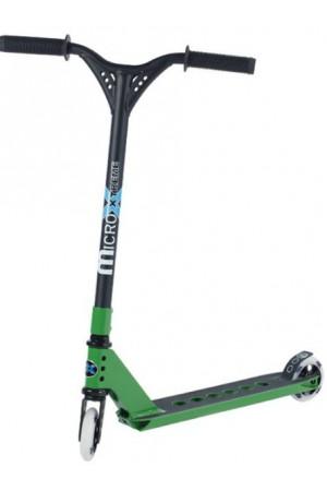 Самокат Micro Freestyle Scooter MX Trixx Green - (SA0088) стальной для трюков зеленый
