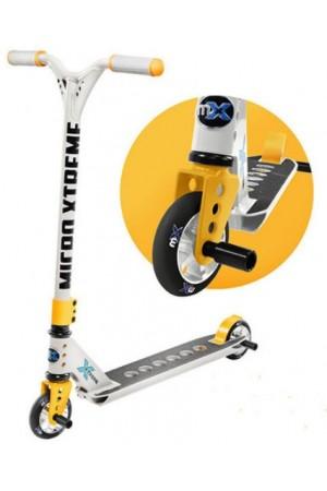 Самокат Micro Freestyle Scooter MX Trixx Grey-Yellow (SA0186) серо-желтый стальной для трюков