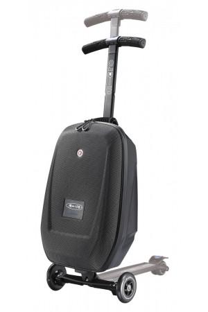 Кикборд-Чемодан Micro Luggage Black (ML0005) чёрный кейс Samsonite + 10см высота ручки