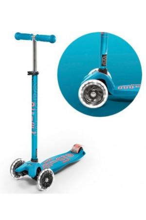 Самокат Micro Maxi Micro Deluxe LED Aqua T (MMD078) аква светящиеся колеса