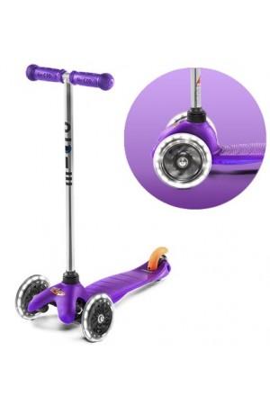 Самокат Micro Mini Micro LED Purple (MM0289) Сиреневый