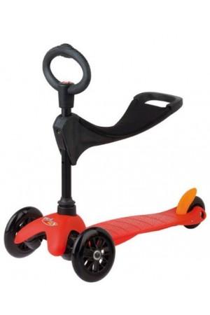 Самокат Micro Mini Micro 3 in1 Red Sporty (микро мини 3в1) черные колеса