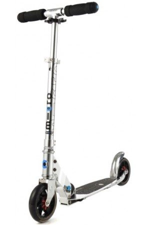Самокат Micro Scooter Speed+ Pure Silver (SA0142) серебряный 145mm