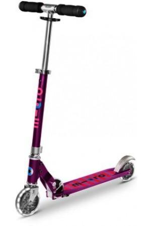 Самокат Micro Scooter Sprite Purple Stripe LED (Sa0219) Сиреневые Полоски