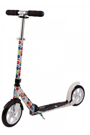 CАМОКАТ MICRO SCOOTER WHITE Floral Multicolor (SA0052) колёса 200mm