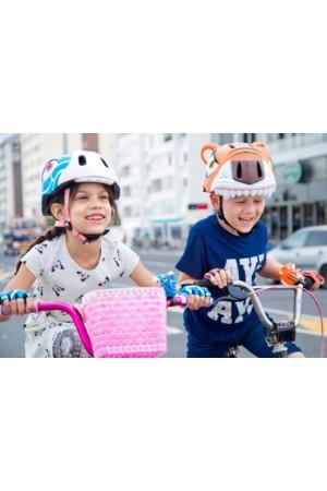 """Перчатки детские защитные (без пальцев) - Crazy Safety """"S"""" - 7см для беговела - самоката или велосипеда ДИСКОНТ С ЗАТЯЖКОЙ"""