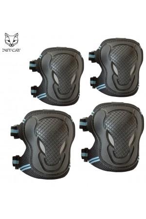 Комплект защиты 2 в 1 Jet-Cat (чёрная с синий) детская локтей и коленей