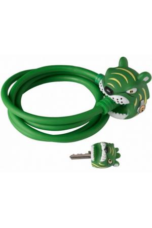 Замок Green Tiger 2017 by Crazy Safety (зеленый тигр) на самокат - велосипед