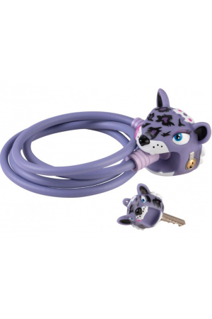Замок Purple Leopard by Crazy Safety (сиреневый леопард) на самокат - велосипед